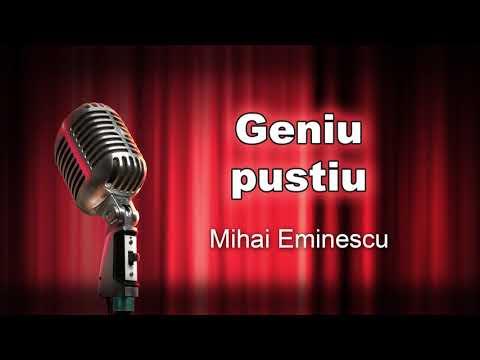 Geniu pustiu, Mihai Eminescu, teatru radiofonic