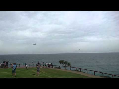 F/A-18F Super Hornets flyby Point Danger Gold Coast