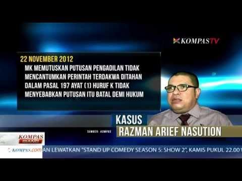 Razman Arif Nasution Mendekap di Rutan Cipinang