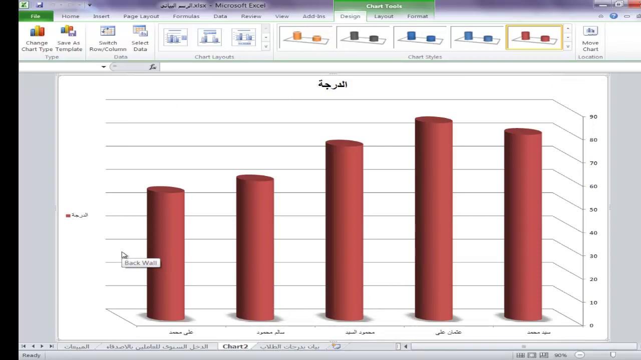 اسهل طريقة لتحويل الجداول الى رسم بياني فى الاكسل الرسم البياني التخطيط او الرسم البيانى فى الاكسل Youtube