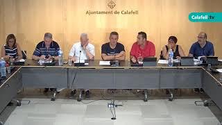 Ajuntament de Calafell: sessió plenària ordinària, 6 d'agost de 2018