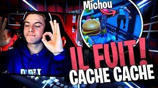 Michou arrive à fuir sur ce mode infecté avec la Team Croûton sur Fortnite Créatif !