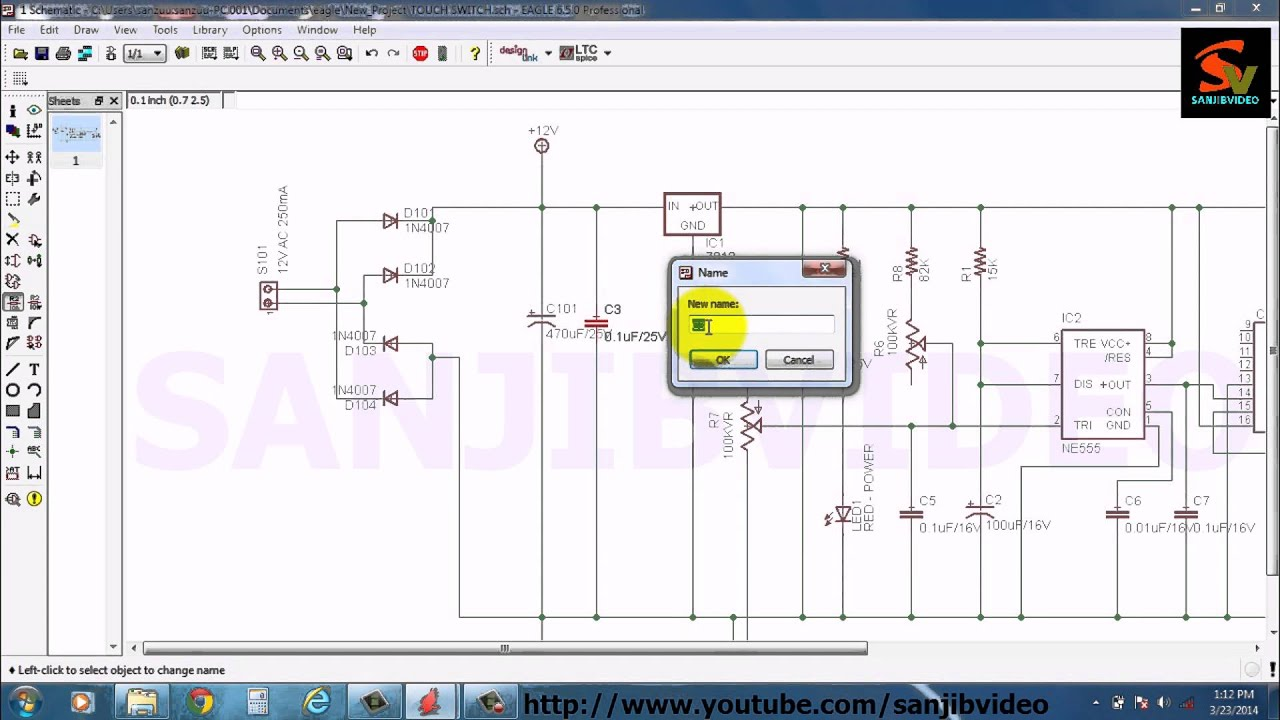 EAGLE # 5 of 12 : ADD/EDIT COMPONENT LABEL : How to Design Circuit ...