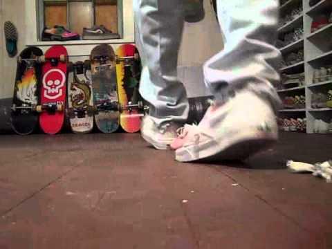 b091e30fa80e trashed shoes 2 pair white vans slip ons - YouTube