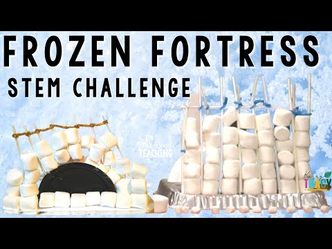 Christmas Stem Challenges.Winter Christmas Stem Challenge Frozen Fortress 5 Of 5