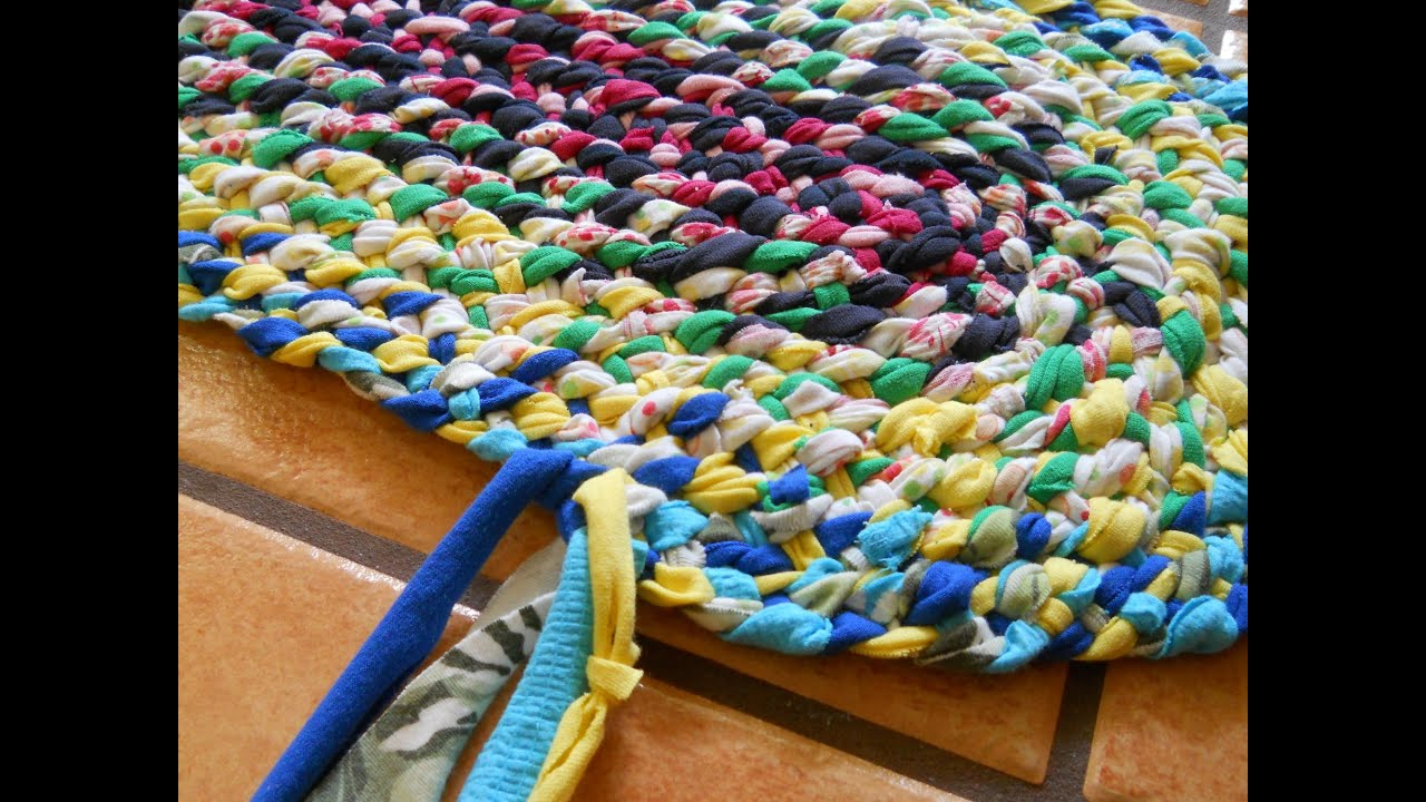Lost Art of Braid-in Rag Rugs Part 3 - YouTube