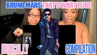 Bruno Mars - That's What I Like (Best of #DanceWithBruno Musical.ly Compilation) REACTION!!