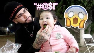 BABY SAYS HER FIRST BAD WORD!!!