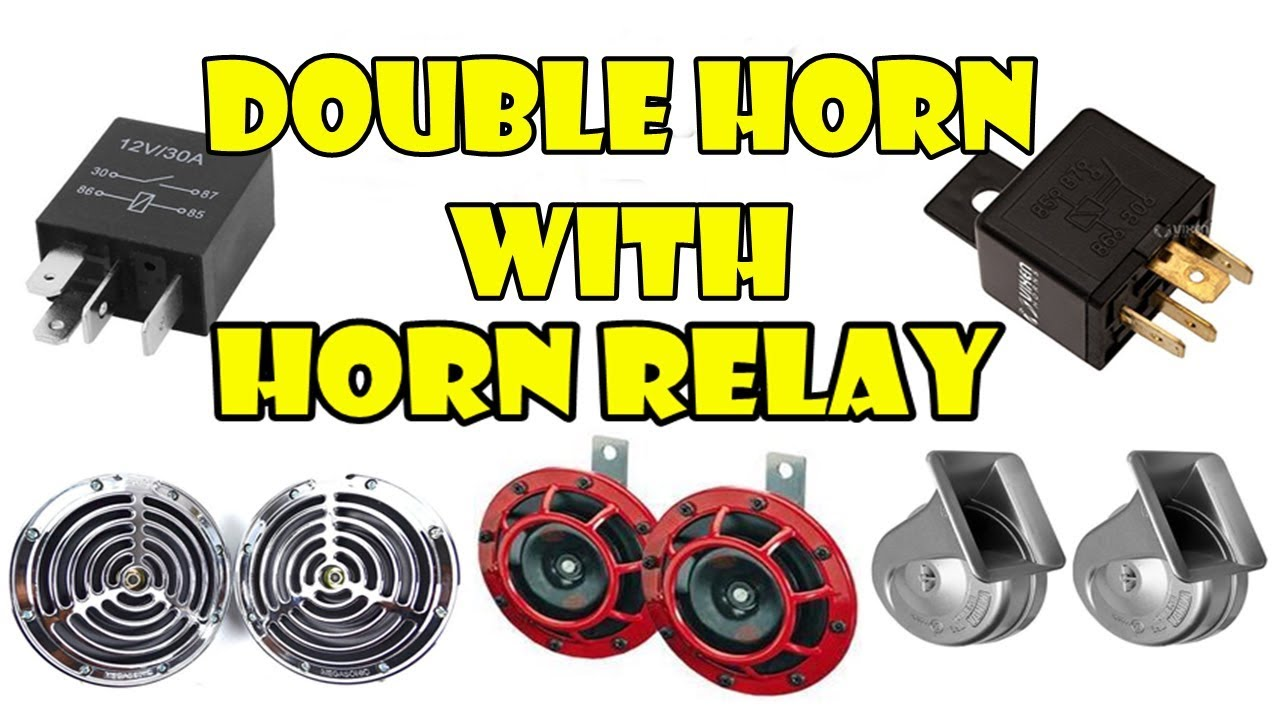 hight resolution of how to install horn relay with double horn easy simplest all bikes scooter car