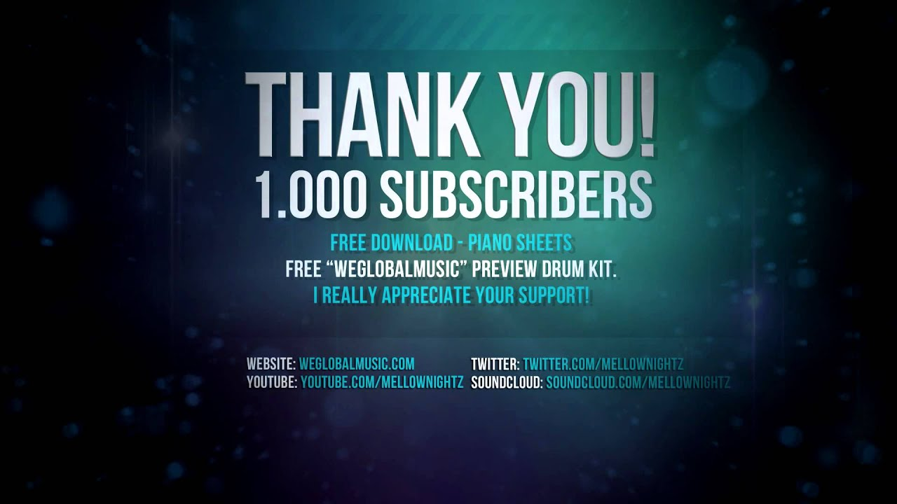 1000 subscribers special thank you all 1of4 5
