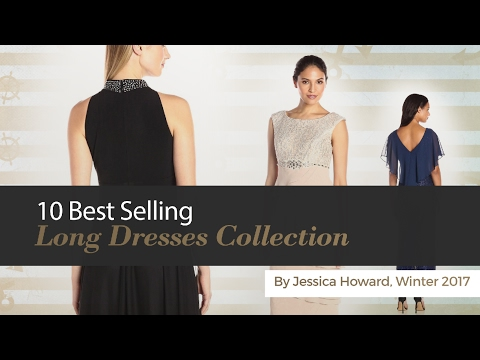 10 Best Selling Long Dresses Collection By Jessica Howard, Winter 2017