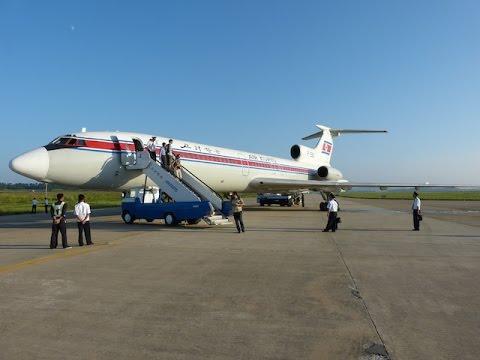 Air Koryo Tu 154 Takeoff Approach Landing Fnj Pyongyang Sunan
