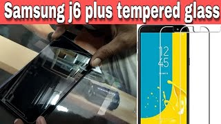 How to apply tempered glass ||  Samsung j6 plus || screen guard || screen protector