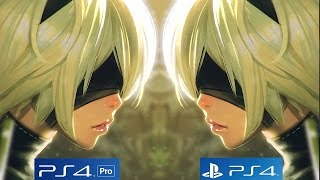 Nier Automata - PS4 PRO vs PS4 Graphics Comparison [1080p/60fps]
