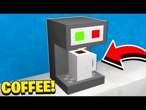 How To Make A WORKING COFFEE MACHINE In Minecraft! (NO MODS!)