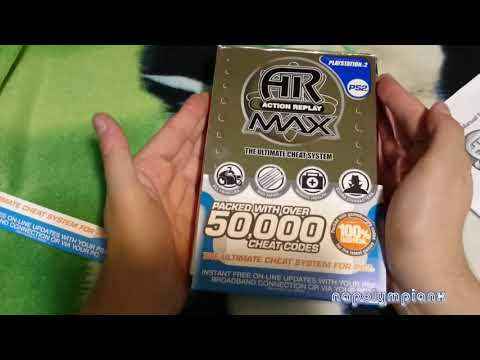 Action Replay Max Datel Unboxing Gray Blue Label Complete PS2