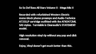 So So Def Bass All Stars Volume II - Mega Mix II