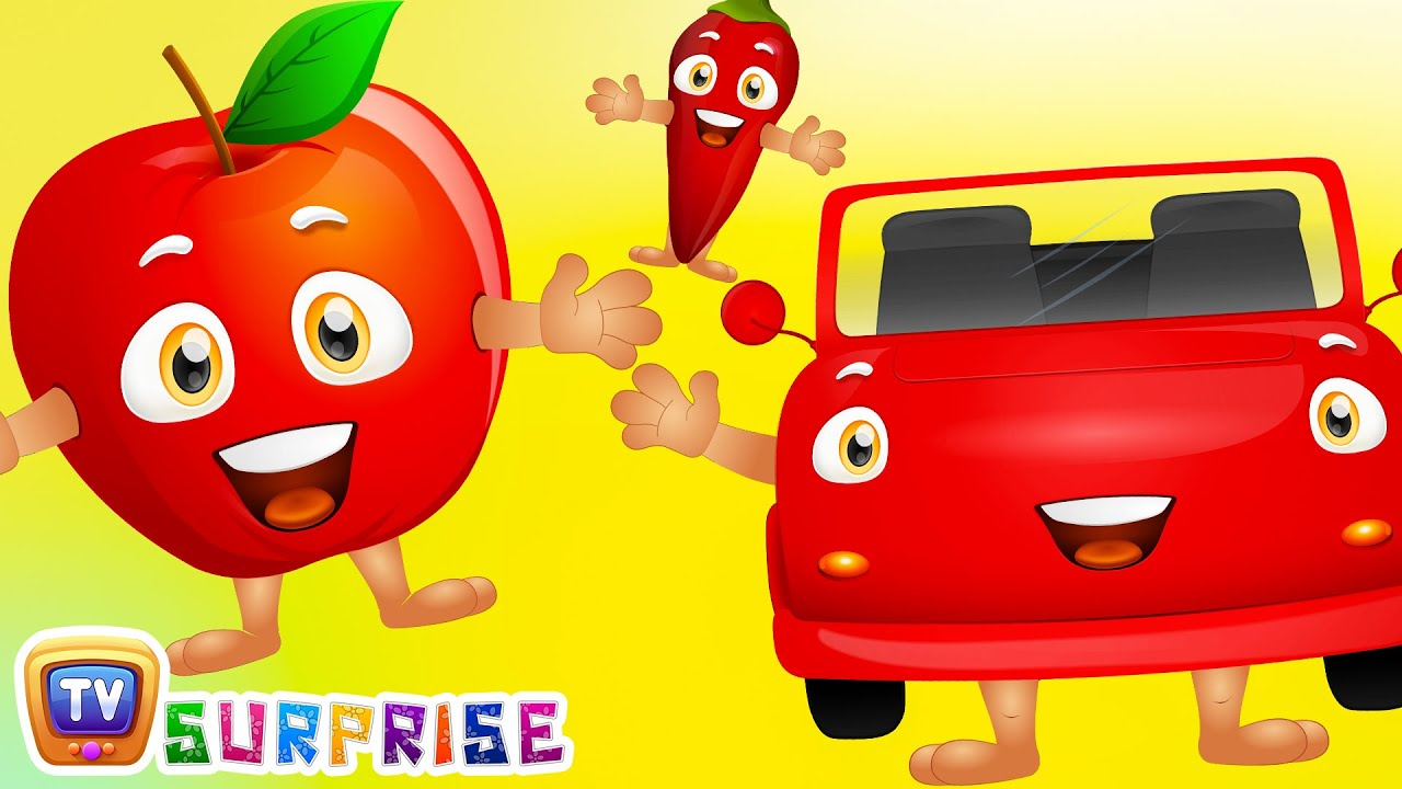 Learn RED Colour with Funny Egg Surprise & RED Color Song | ChuChuTV ...