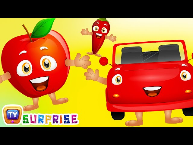 Learn Red Colour With Funny Egg Surprise Red Color Song