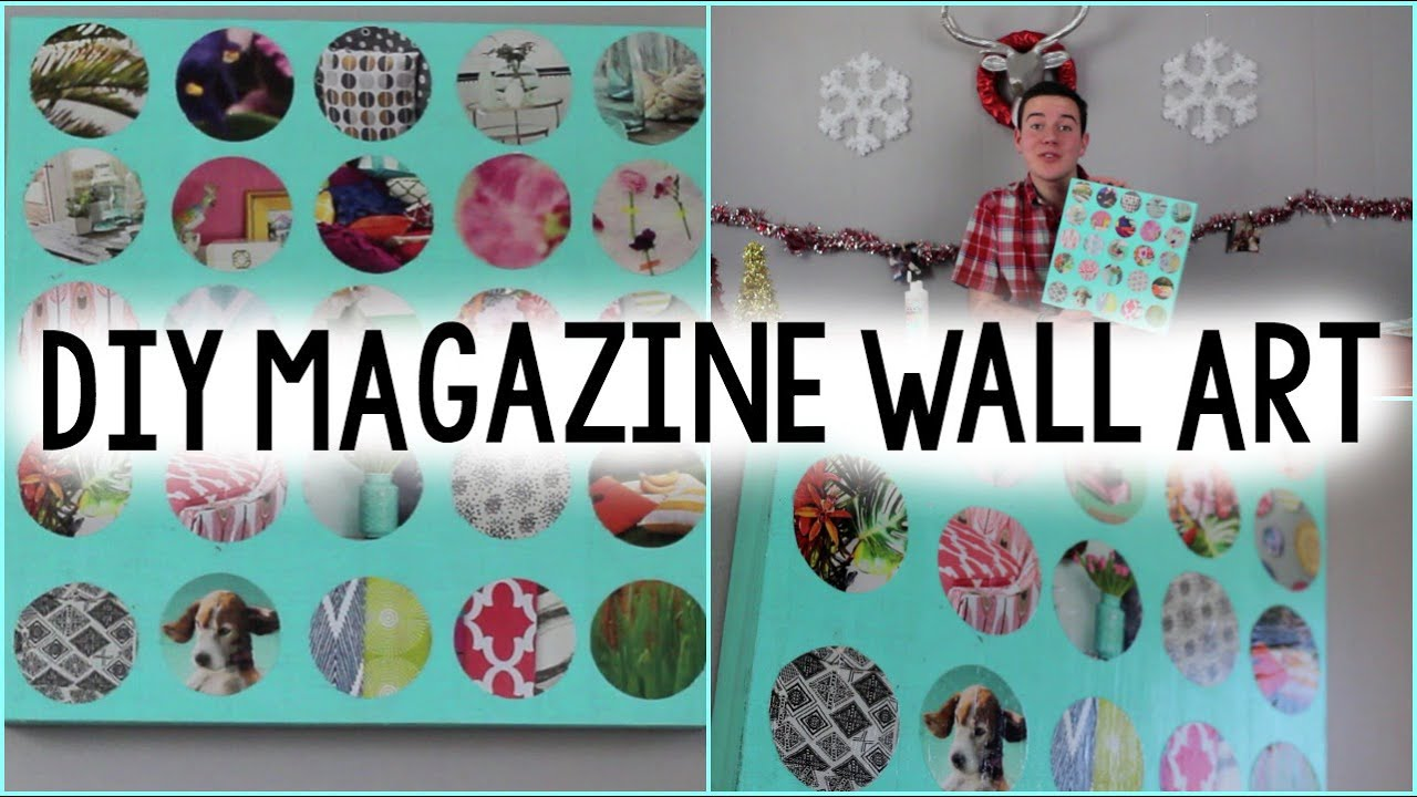 DIY Recycled Magazine Wall Art - YouTube