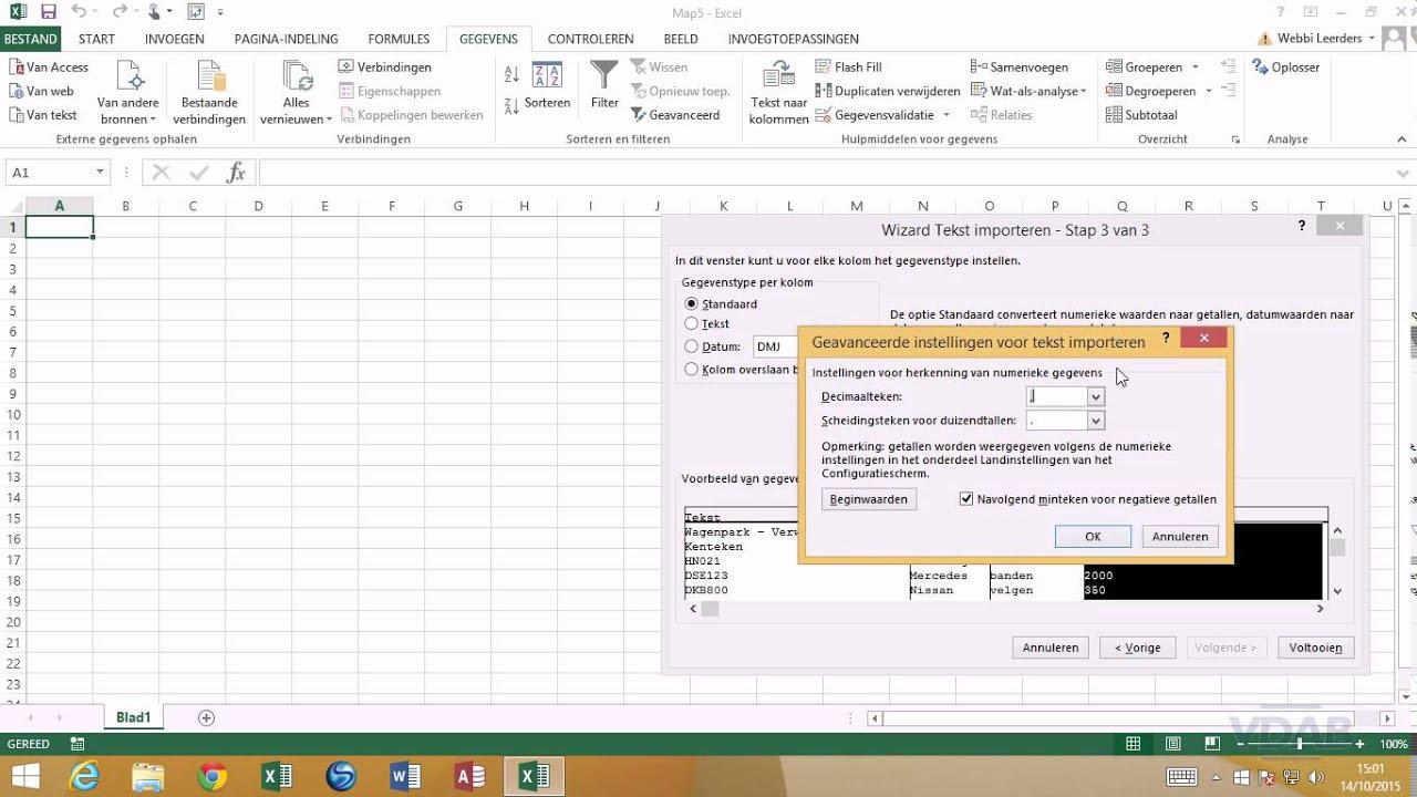Excel 2013 Data Analyse 33 Tekstgegevens