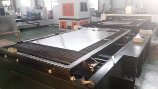 Fiber laser cutting machine with Automatic exchange table for steel cabinet, office steel furniture