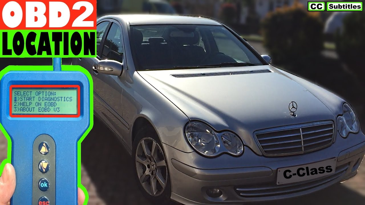 Mercedes C Class Obd2 Diagnostic Port Location Youtube Fuse Box