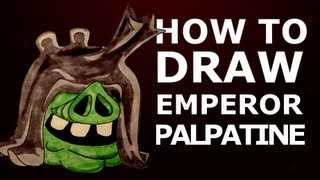 How to draw Angry Birds Star Wars 2 - Emperor Palpatine