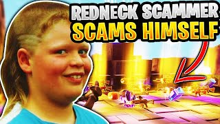Screaming Redneck Scammer Scams Himself! (Scammer Gets Scammed) Fortnite Save The World