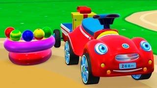 Развивающий 3Д мультфильм для малышей: Машинка и Вертолетик строят Детский Бассейн, мультики Зим Зум