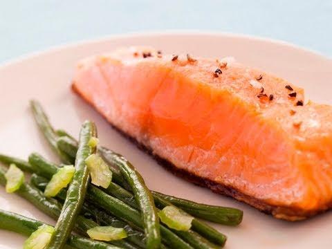 recette-de-pavé-de-saumon-à-l'unilaterale-et-haricots-verts