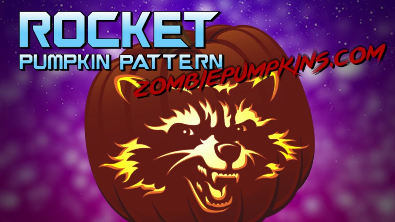 Rocket raccoon pumpkin pattern by zombiepumpkins youtube