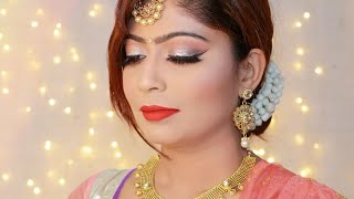 GOLD INDIAN WEDDING GUEST MAKEUP TUTORIAL | Rinkal Soni