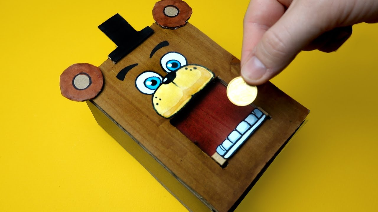 FUNNY FNaF TRICKS WITH CARDBOARD AND MORE - 7 CREATE YOUR FNAF ANIMATRONICS IDEA
