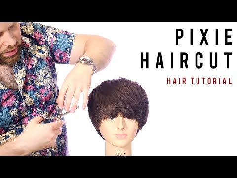 Haircut Makeover - Bob to Pixie Haircut Tutorial - TheSalonG