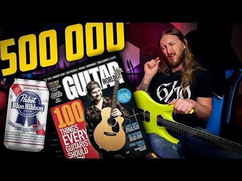 FAQ139 - 500 000 SUBS, GUITAR WORLD, BEER, REAL VS FAKE AMPS
