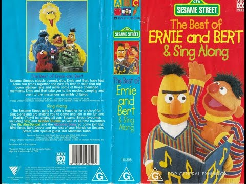 Sesame Street Home Video The Best Of Ernie And Bert And Sing Along