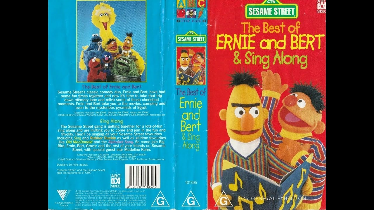 Download Sesame Street Home Video The Best Of Ernie And Bert And Sing Along