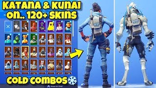 "NEW ""KATANA & KUNAI"" BACK BLING Showcased With 120+ SKINS! Fortnite Battle Royale (KENJI BACK BLING)"