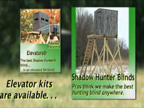 for deer kit elevated lovely blinds sale blind elevators hunter shadow reviews