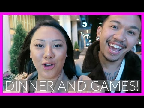 DINNER & GAMES IN DOWNTOWN TORONTO | LifeWithGer Vlogs (#148)