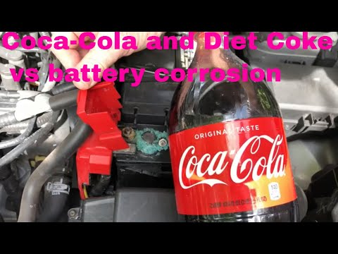THE TRUTH about Coco Cola and Diet coke vs Battery corrosion!!!!!!