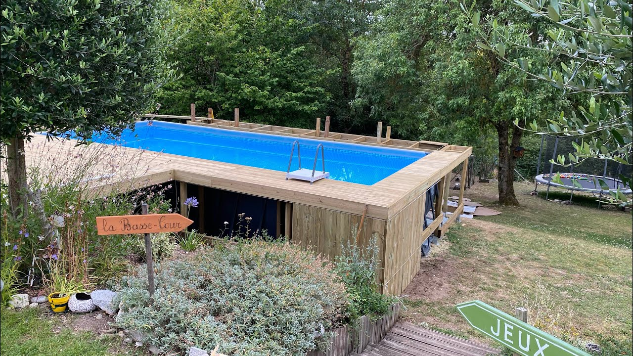 """Entourage bois piscine tubulaire """"part 9 structure et pose de lame"""""""