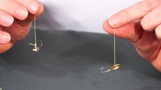 2 способа привязать мормышку узлом клинч