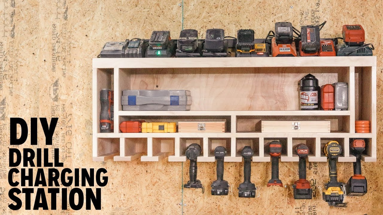 Diy Drill Charging Station Doovi