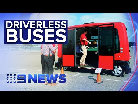 See First Automated Bus Line Running In Regular Traffic | Nine News Australia
