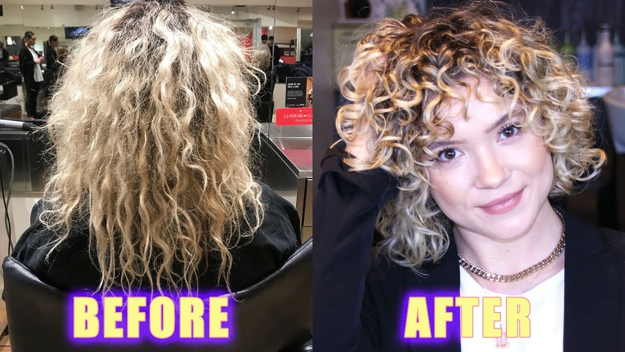 Damaged Blonde Curly Hair Transformation 2c 3b Curls Youtube