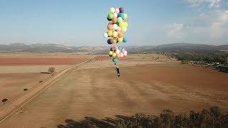 Adventurer Uses Helium Balloons To Fly Over South Africa, REAL LIFE UP MOVIE | What's Trending Now!