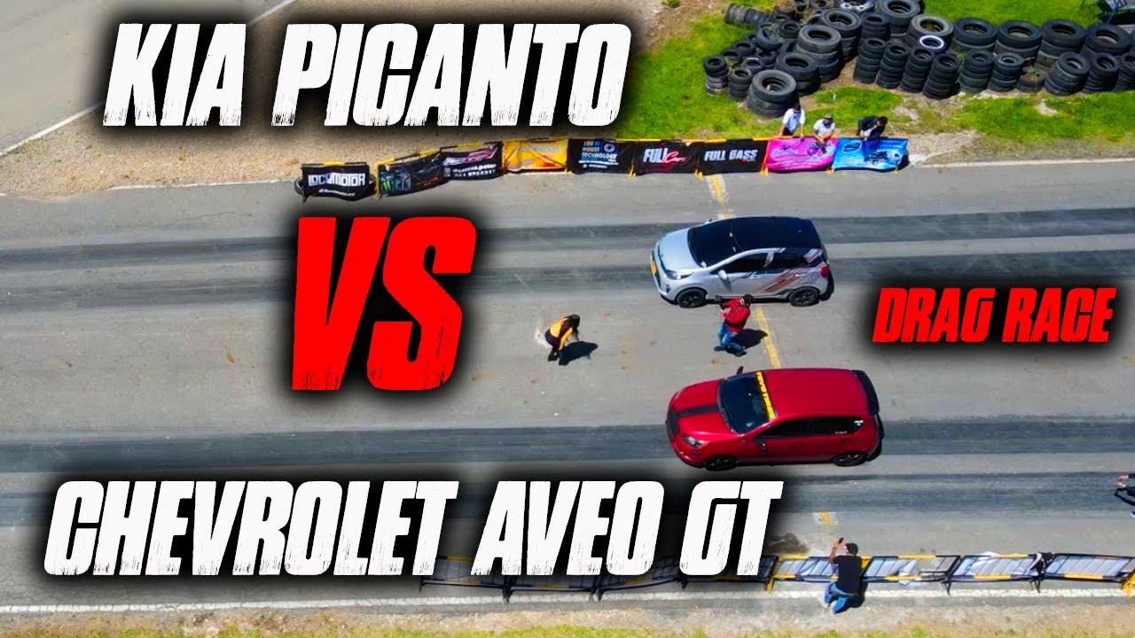 Aveo gt VS Picanto 1/4 de Milla Drag Race