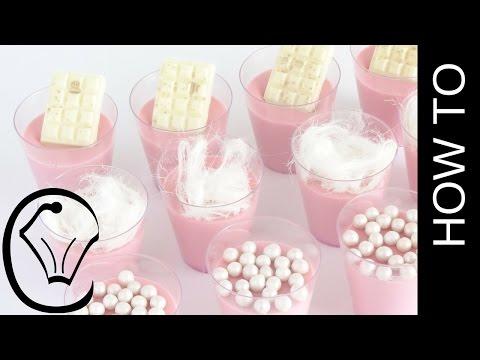 Cotton Candy Panna Cotta Shot Glass Mini Dessert By Cupcake Savvy's Kitchen